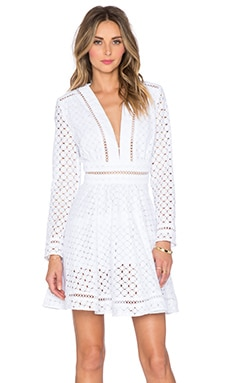 Zimmermann Ryker Broderie Dress in White