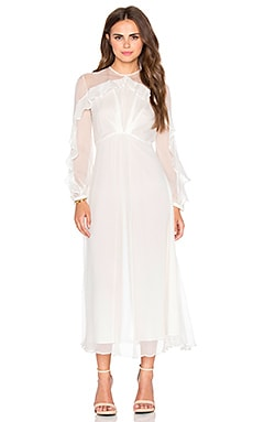 Zimmermann Arcadia Tuck Dress in Winter White
