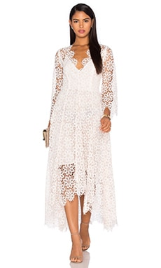 Zimmermann Empire Guipure Dress in Blush & Natural