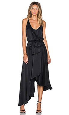 Zimmermann Empire Sueded Dress in Black