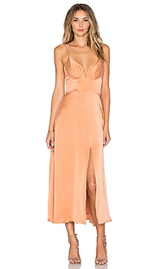 Zimmermann Sueded Bralette Dress in Ochre