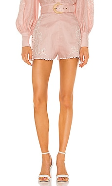Freja Embroidered High Waist Short Zimmermann $375