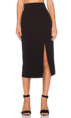Zimmermann Crepe Pencil Skirt in Black