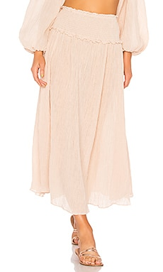 Bayou Shirred Long Skirt Zimmermann $375
