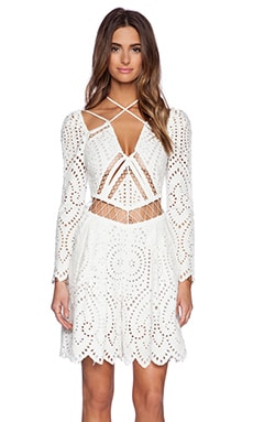 Zimmermann Riot Eyelet Playsuit in White