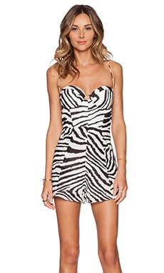 Zimmermann Hyper Bustier Playsuit in Zebra