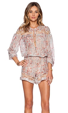 Zimmermann Gemma Folk Playsuit in Floral