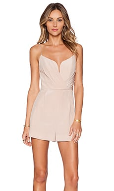 Zimmermann Plunge Romper in Sunstone