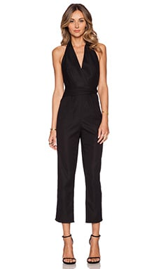Zimmermann Wrap Jumpsuit in Black