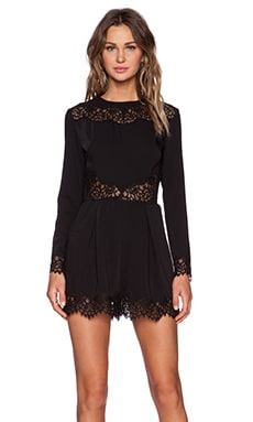 Zimmermann Lace Romper in Black