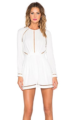 Zimmermann Playsuit in Winter White