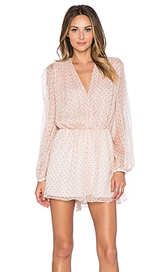 Zimmermann Rhythm Dot Tuck Romper in Blush