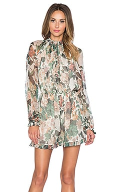 Zimmermann Arcadia Ruffle Romper in Floral