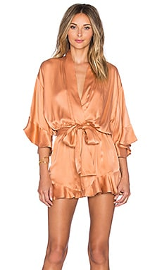 Zimmermann Empire Sueded Playsuit in Ochre