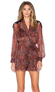 Zimmermann Empire Filigree Playsuit in Rouge Konya