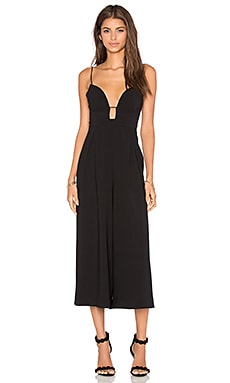 Zimmermann Crepe Underwire Jumpsuit in Black