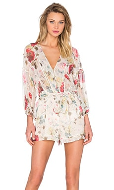 Zimmermann Mischief Ladder Playsuit in Floral