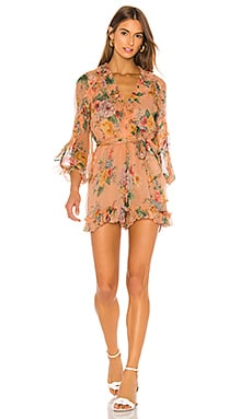 Zinnia Plunge Ruffle Playsuit Zimmermann $650 Collections