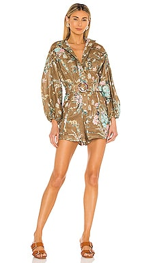 Cassia Panelled Playsuit Zimmermann $620 Collections