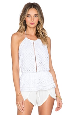 Zimmermann Ryker Broderie Top in White