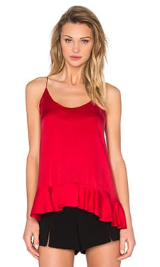 Zimmermann Sueded Silk Floating Cami in Crimson