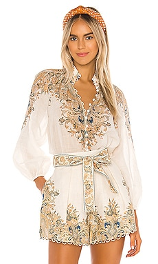 Freja Paisley Blouse Zimmermann $530 BEST SELLER