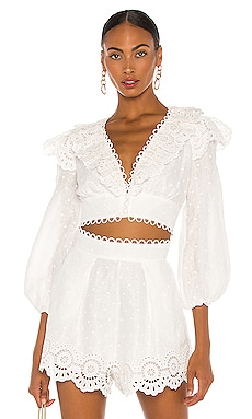 Bellitude Scallop Crop Top Zimmermann $425