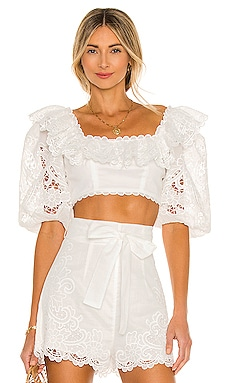 Lulu Scallop Frill Top Zimmermann $450