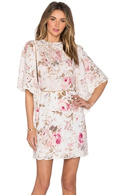 Zimmermann Eden Embroidered Dress in Floral Embroidery