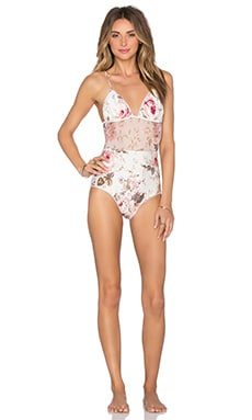 Eden Picot One Piece Swimsuit in Floral
