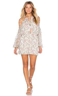 Zimmermann Eden Lace Playsuit in Floral Embroidery