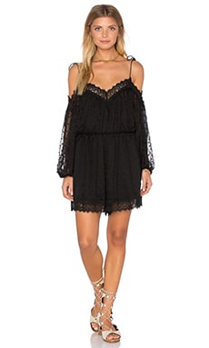 Realm Scallop Playsuit in Noir