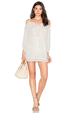 Zimmermann Realm Scallop Playsuit in White