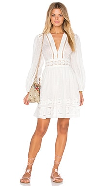 Zimmermann Realm Embroidered Panel Dress in White