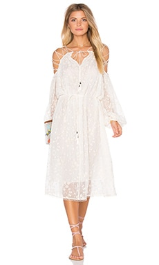 Zimmermann Eden Lace Dress in Natural