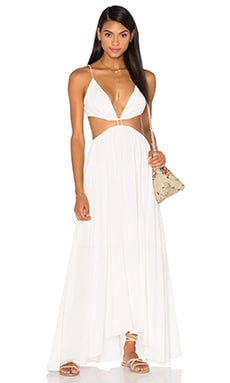 Chroma Cut Out Maxi Dress in Natural