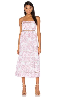 Roza Ladder Strap Maxi Dress in Floral