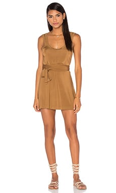 Chroma Slinky Tank Dress in Tan
