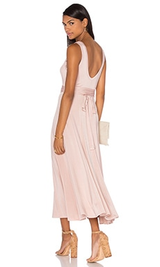 Chroma Slinky Maxi Dress in Nude