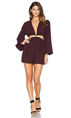 Chroma Cut Out Playsuit en Chocolat