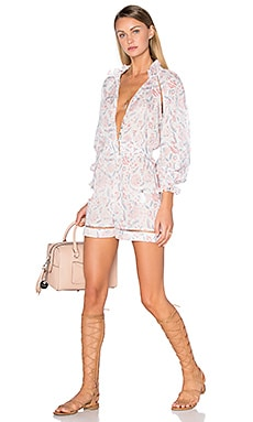 Zimmermann Zephyr Folk Playsuit in Floral