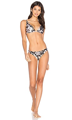 Gossamer Applique Bikini Set en Fleuri