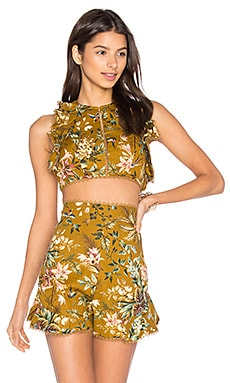 Tropicale Flutter Tank in Mustard Floral