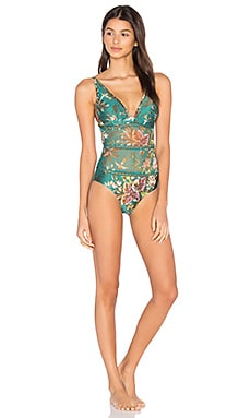 Tropicale Triangle One Piece en Bleu Sarcelle