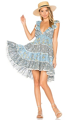 Caravan Tiered Sun Dress in Splice