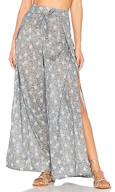 Caravan Split Pant in Blue Floral