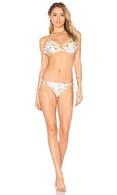 Valour Embroidered Frill Bikini Set