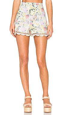 Valour Hydrangea Flare Shorts in Floral