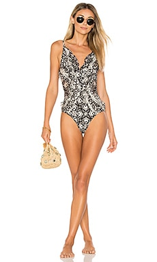 Divinity Ruffle One Piece in Spliced