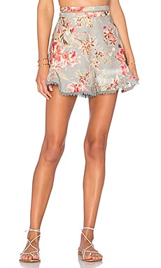 Mercer Flutter Frill Short in Blue Floral